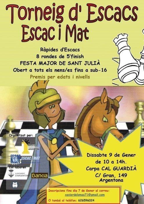 Cartell II Torneig Argentona-EscaciMat A4